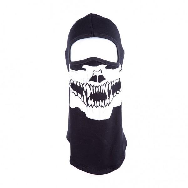 Raubtier Totenschädel Biker Sturrmmaske mit Hochwertigem Aufdruck