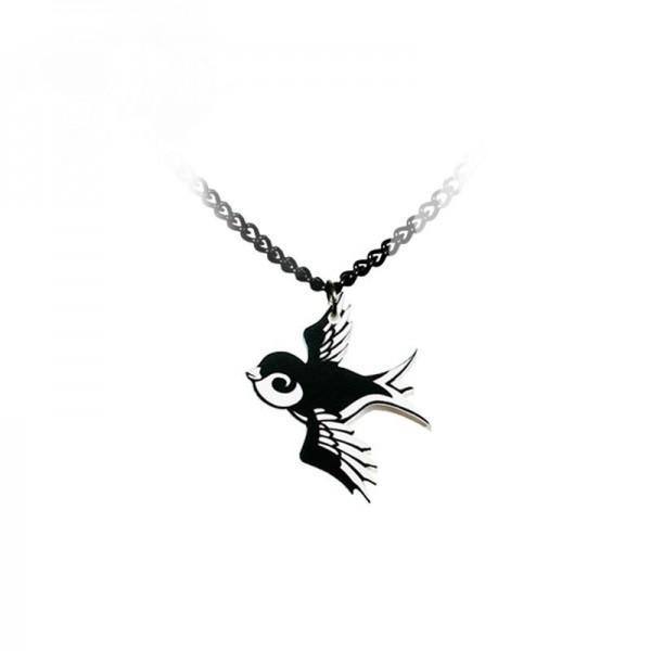 Acryl Schwalben Girly Halskette