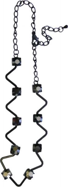 Metallkette mit Glass Perlen