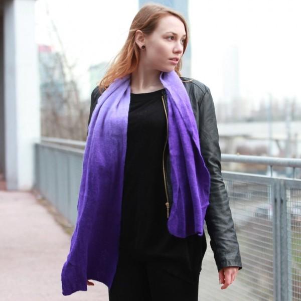 Damen Schal mit Lila Farbverlauf