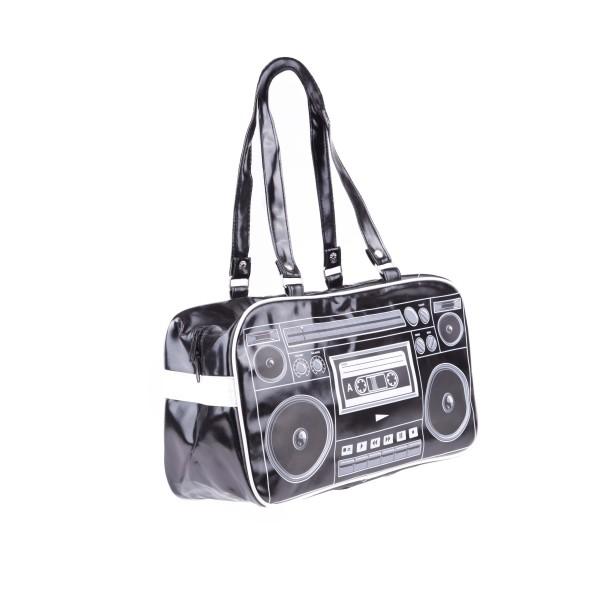 Schwarze Boom Box Recorder Sport Tasche