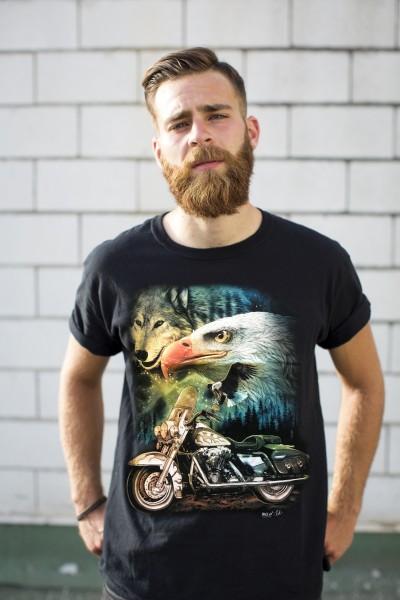 Wild T-Shirt Biker Eagle
