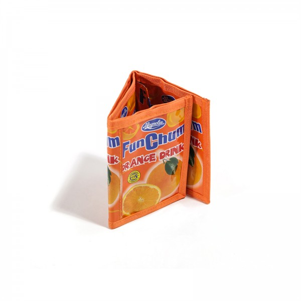 Orange Multi Drink Recycling Geldbörse