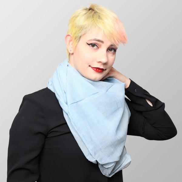 Baumwolltuch in Hellblauer Uni Farbe