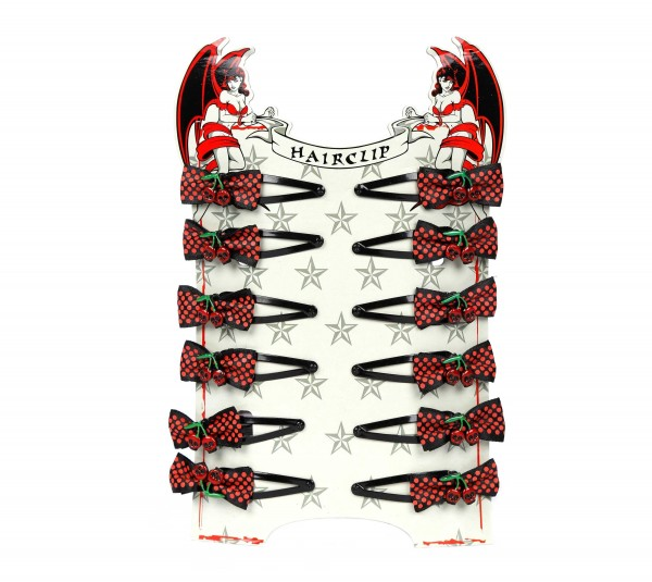 Skull Kirsche Haarclip Display