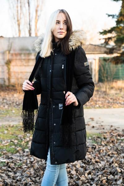 Premium Schwarz Samt Schal