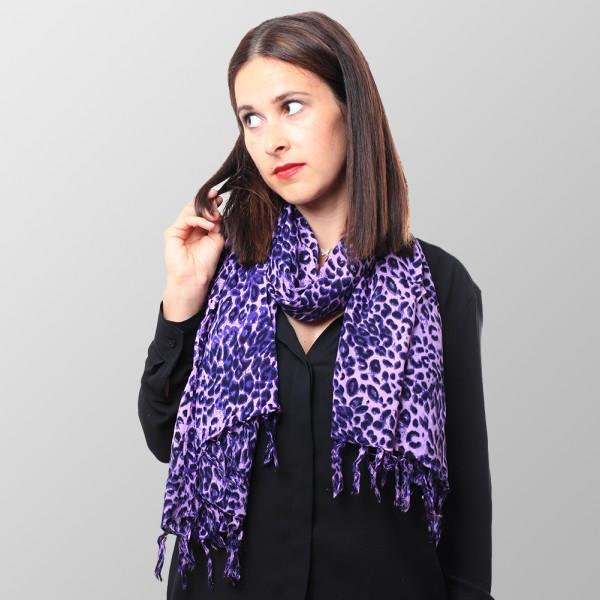 Süßes Fliederfarbenes Leoparden Sommer Tuch
