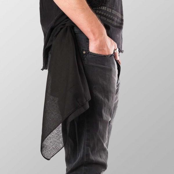 Bandana Halstuch Einfarbig Schwarz Uni 55 cm x 55 cm