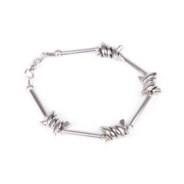 All Time Stacheldraht Armband Silber