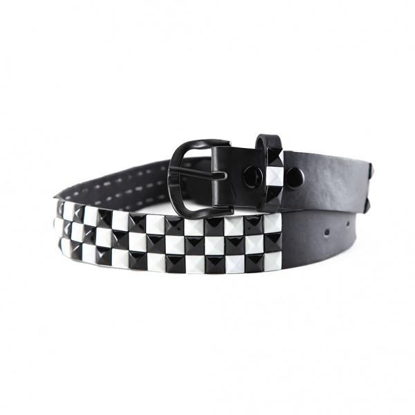 Schachbrett Karo Gürtel aus Hochwertigem Kunstleder Streetwear