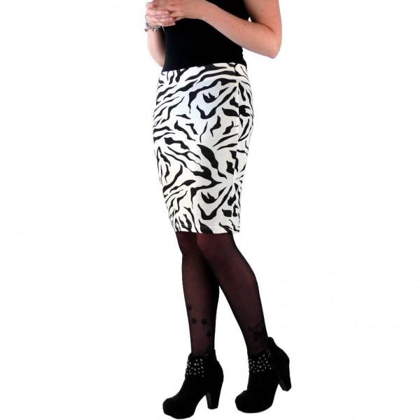 Rockabilly Zebra Print Damen Sommer Rock one size
