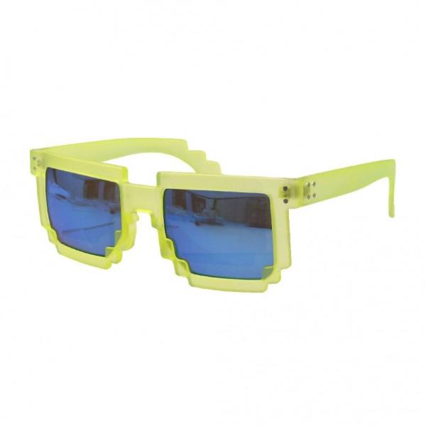 Geekinvader Exclusiv 8 BiTS Nerd Sonnenbrille grün