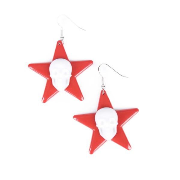 Totenkopf Stern Ohrring