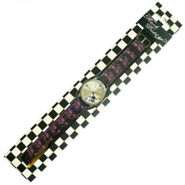 Totenkopf Gummi Armbanduhr