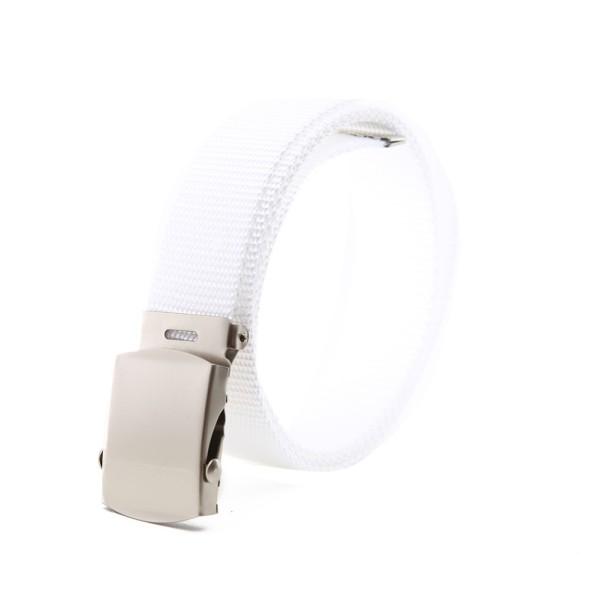 Weißer Stoffgürtel Unifarben 110cm