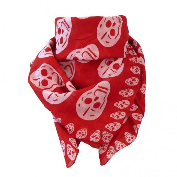Mexican Sugar Skull Halstuch Red Berry