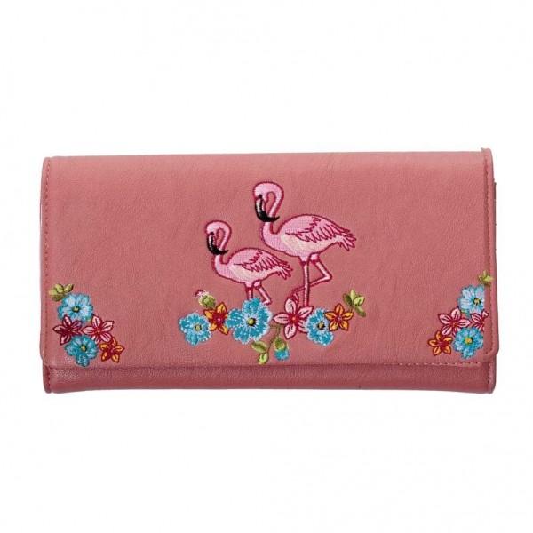 Banned Swinging Sixties Flamingo Geldbeutel