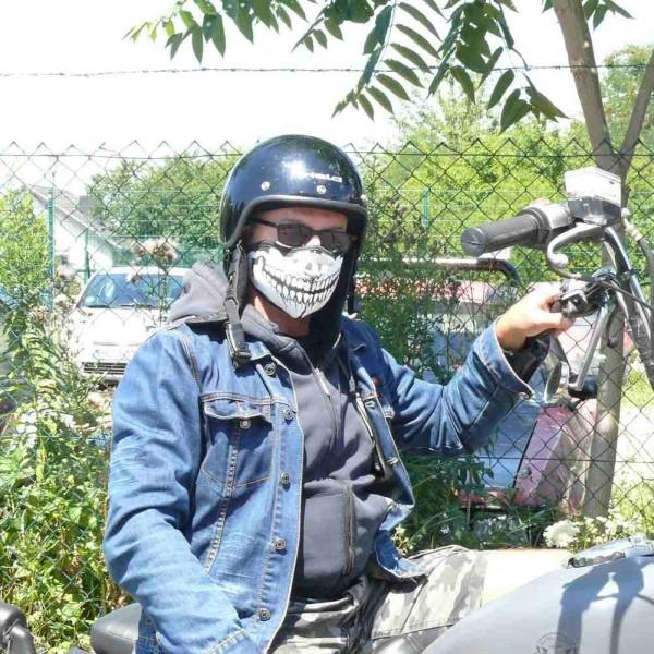 Totenkopf Aufdruck Biker Maske