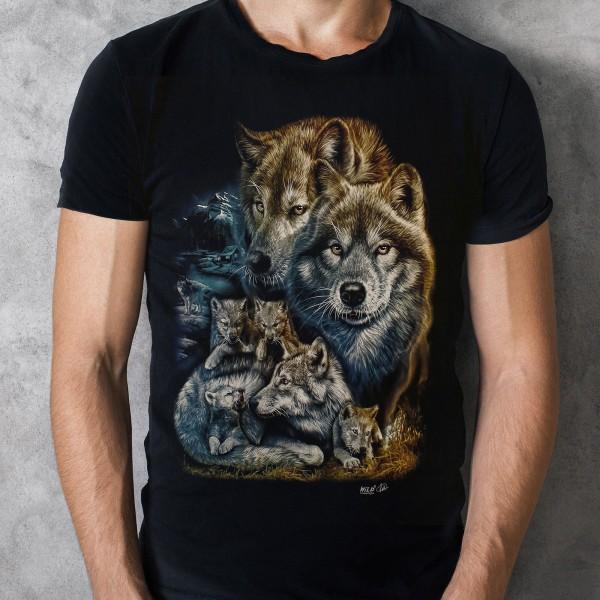 Wild Glow in the Dark Wolfsrudel T-Shirt