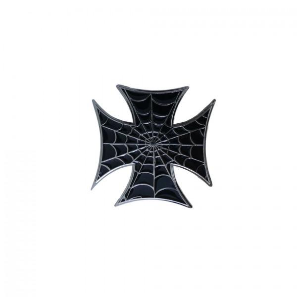 Gürtelschnalle Eisernes Kreuz Spinnweben