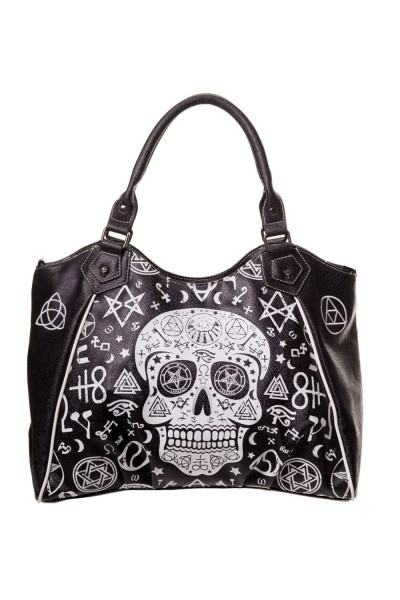 Banned Pentagram Totenkopf Handtasche
