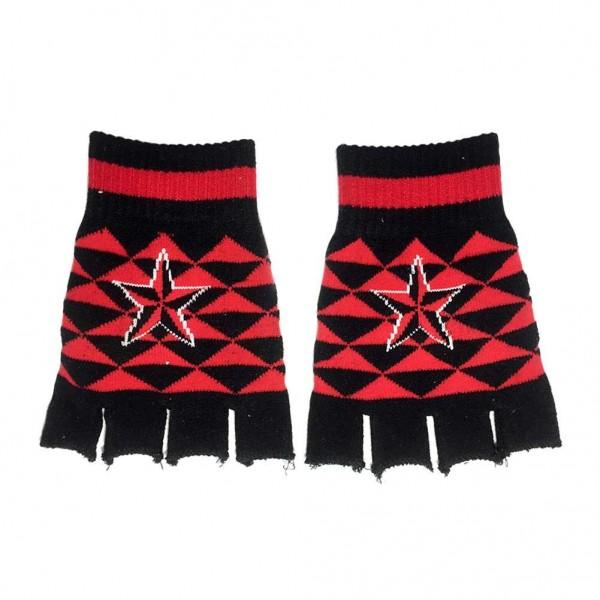 Fingerlose Rauten Handschuhe mit Nautic Stern