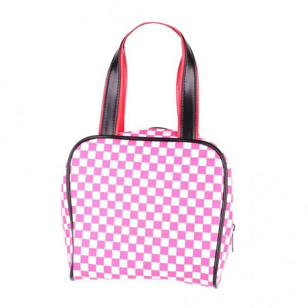 Bowling Handtasche Pink Weiß