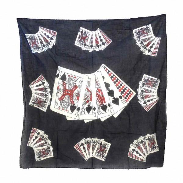 Poker Face Karten Halstuch mit Aufdruck