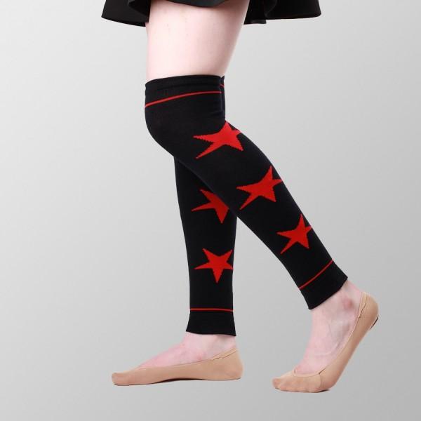 Schwarzer Beinwärmer mit Roten Sternen