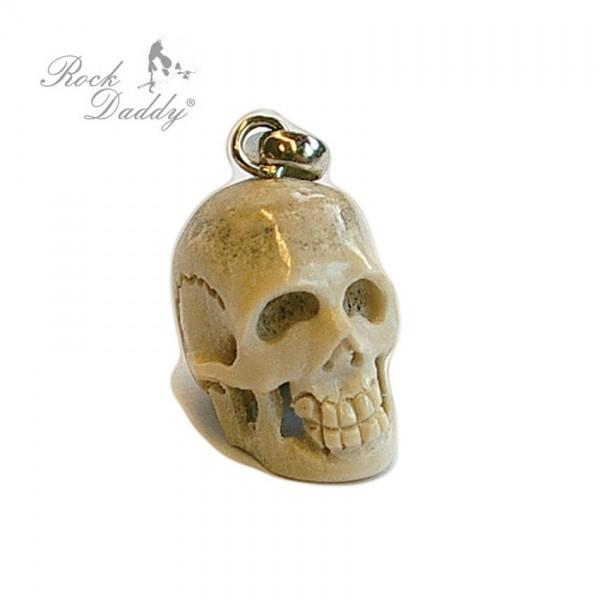 Natur Knochen Skull Schädel Anhänger in Natur Farben