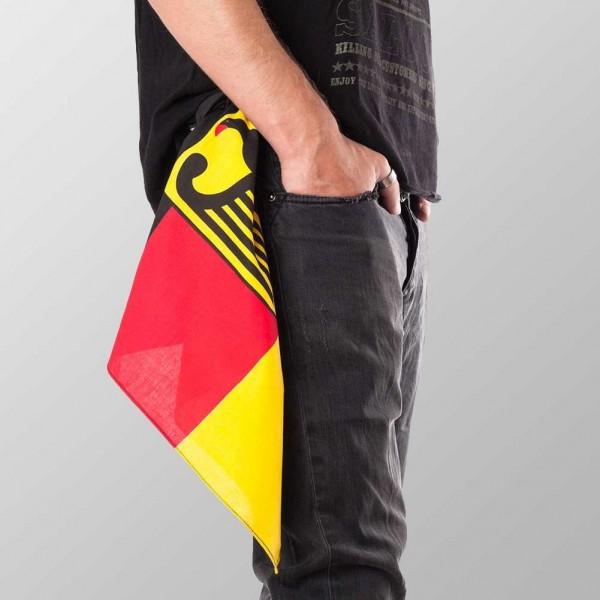 Bandana Halstuch Multicolor Deutschland Flagge mit Adler 55 cm x 55 cm