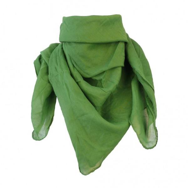 Uni Baumwolltuch in Grün