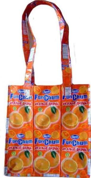 Orangen Saft Fruchtsaft Einkaufstasche XL
