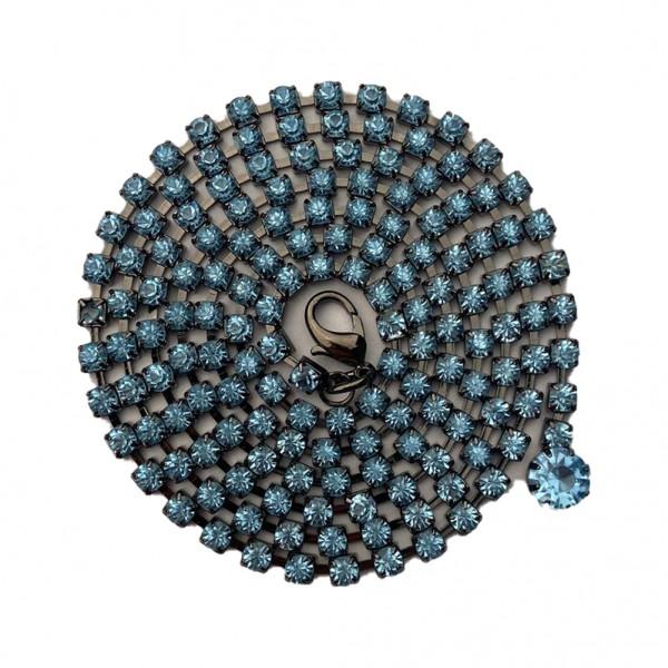 Bauchtanz Damengürtel mit Türkisen Strasssteinen