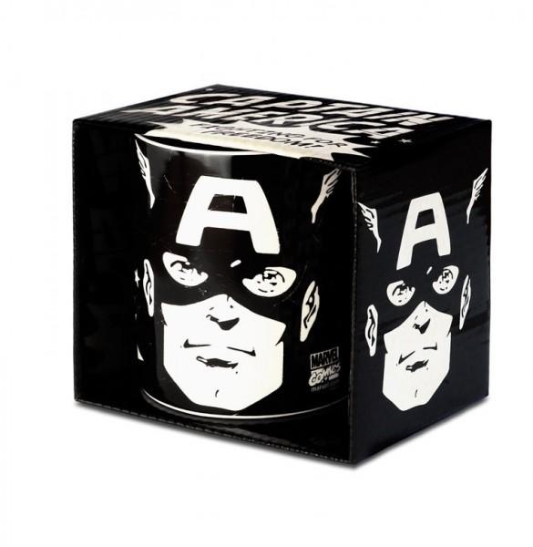 Captain America Tasse Schwarz ca.300ml