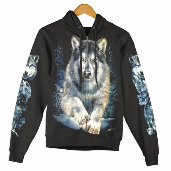 Zipper Hoodie Jacke Wild Wolf