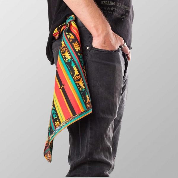 Bandana Halstuch Multicolor Rastafari 55 cm x 55 cm