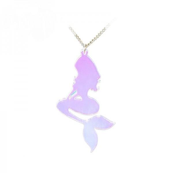 Meerjungfrau Acryl Girly Halskette