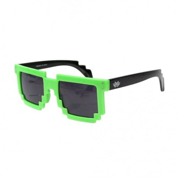 Geekinvader Exclusiv 8 BiTS Nerd Sonnenbrille schwarz grün