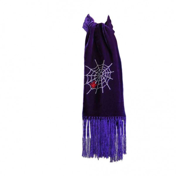 Samt Gothic Spinnennetz Schal