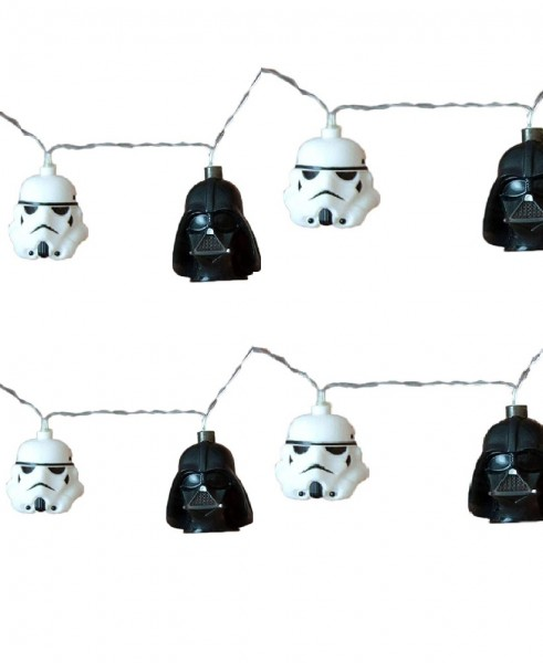 Stormtrooper Darth Vader 3D Lichterkette Helme