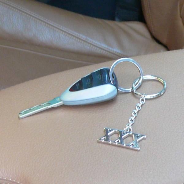 Metall Schlüsselanhänger XXX