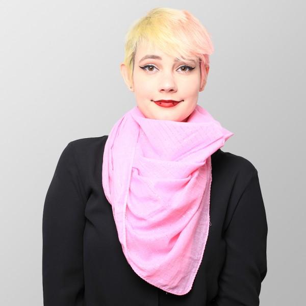 Uni Pink Farbenes Lurextuch aus Baumwolle