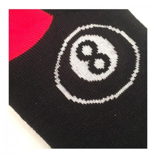 Eight Ball Billiard Design Socken one size