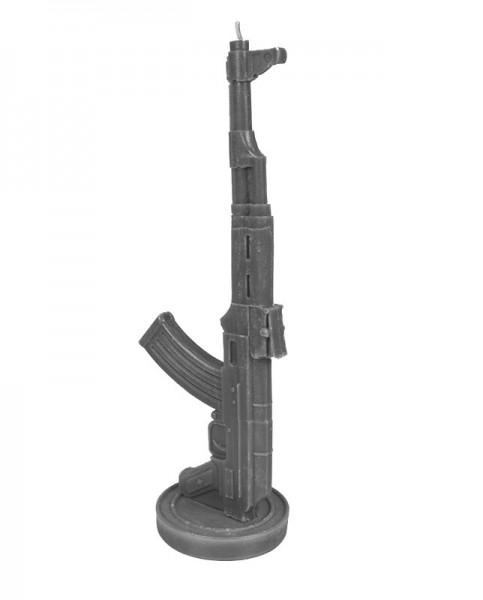 AK-47 Kalashnikov Kerze Grau