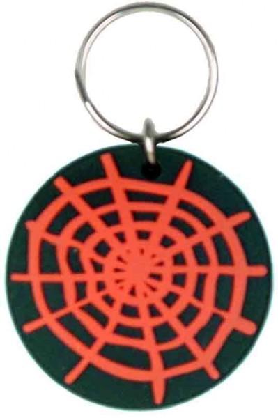 Gummi Schlüsselanhänger Spinnennetz