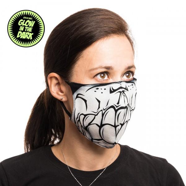 Skull Skelett Glow in the Dark Stoffmaske