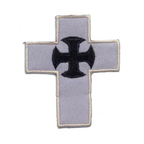 Graues Kreuz Patch