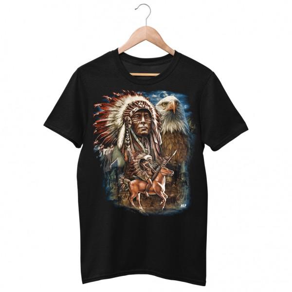 Wild Indianer auf der Jagd T-Shirt