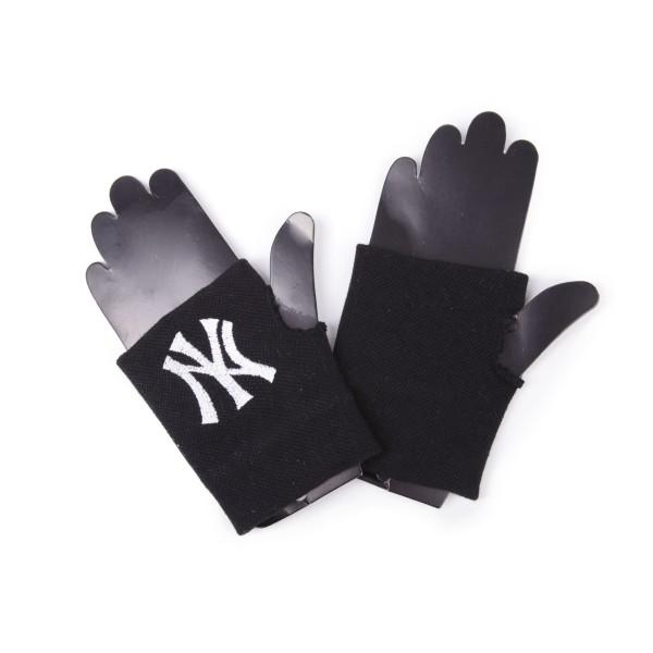Fingerlose Handschuhe NY New York City Stickerei